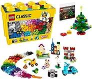 [制造商特典] LEGO 樂高 經典系列 黃色創意盒 10698 + 附帶圣誕樹迷你套裝