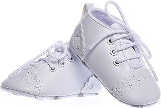 Booulfi 男婴短靴 新生儿洗礼 洗礼 鞋子礼服 白色 洗礼 十字短靴