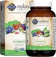Garden of Life Mykind Organics 维生素B复合物,每天一次,30片,素食主义者,B族复合物,叶酸,B12,烟酸,B6,生物素,用于代谢,能量补充