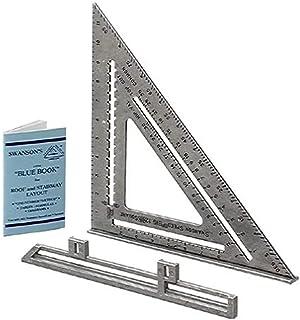 """Swanson Tool Co S0107 """"Big 12"""" 12 英寸速度方形布局工具,带蓝色书"""