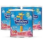 降价!【亚马逊海外购】PediaSure 雅培 小安素婴幼儿配方营养奶粉 400gx3罐 1-14岁适用 草莓味 到手价¥199.32