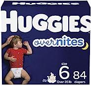 HUGGIES 夜间婴儿纸尿裤,尺寸 6,84 片,Huggies Overnites