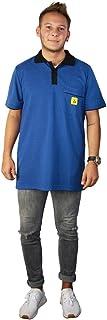 Wetec ESD Polo 衫,黑色衣领,尺码 L,蓝色