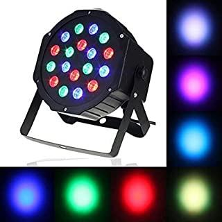 LED 激光平光灯,平面舞台灯,自动声音控制 DMX 主从 18 激光投影机上照明塑料,适用于圣诞节舞蹈万圣节DJ秀派对婚礼音乐会Lifego