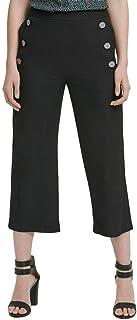 DKNY 女式装饰七分水手裤黑色 12