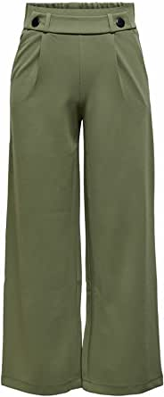 JdY 女士 JDYGEGGO 新款长裤 JRS NOOS 裤子,Kalamata/细节:黑色纽扣,34(大号)