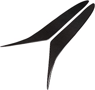 YUANJS 汽车眉饰,前灯眉碳纤维前灯眼线装饰贴纸适合 RX8 Coupe 2004-2008