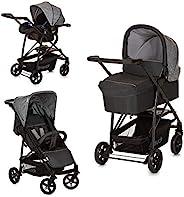 Hauck Rapid 4 Plus Trio Set 3 合 1 婴儿车套装 *大承重 25 千克 绝缘婴儿提篮 带床垫的婴儿篮 带床垫 高度可调手柄 小可折叠 轻便 灰色 149744