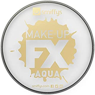 Smiffy's Make-Up FX Aqua Face and Body Paint Water Based, 16 ml - White