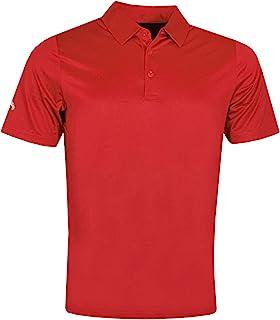 Callaway Golf 男式 Swingtech 纯色弹力高尔夫 Polo 衫