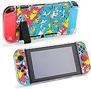 Nintendo Switch 保护套,可爱动物皮卡丘图案保护套,适用于Nintendo Switch Split 5 件式开关游戏机电脑保护套