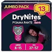 DryNites 女童吸水内裤 8-15 岁 27-57 千克 13 件