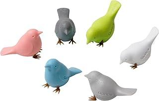 Quolly 磁石 饭勺 磁铁 冰箱 布告板 白板 鸟 Cloud Magnet 6个装 521709700 尺寸:约1.35×3.2×2.4厘米
