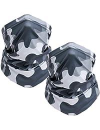 TICONN 颈套(2 件装),面罩围巾,夏季凉爽透气轻便,非常适合钓鱼、远足、跑步、骑自行车