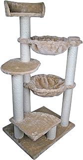 Dehner Simba 猫爬架,约 120 x 48 x 60厘米,剑麻/毛绒 米色
