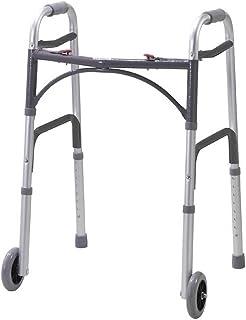 NRS Healthcare 轻质高度可调节折叠步行框架带轮子