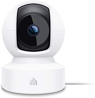 Kasa Smart 智能室内平移/倾斜家用摄像机,具有夜视功能的无线2.4GHz 1080p高清摄像机,夜视仪,用于婴儿监视器的运动检测,云和SD卡存储,可与Alexa和Google Home EC70配合使用