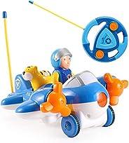 Liberty 进口 My First RC 卡通车载双通道遥控玩具——音乐、灯光和声音,适合宝宝、幼儿、儿童 飞机