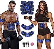 JDASDASF Abs 刺激器 腹部刺激器肌肉鍛煉器可充電肌肉訓練器終極腹部刺激器適用于男士女士腹部鍛煉廣告力量健身腹部肌肉