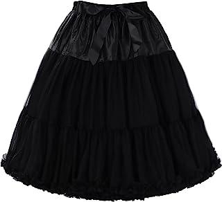 HONEST PHENIX COME 女式 50 年代复古衬裙蓬蓬蓬蓬蓬裙薄纱裙舞蹈蓬裙下裙