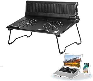 COOSKIN 轻便透气笔记本电脑台式支架带可调节手机支架支架可折叠 & 便携式立管兼容 13-17 英寸笔记本底座支架 黑色