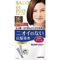SALON de PRO 无香料*剂 快速*膏(白发用) 5E<深みのあるエレガントブラウン> 40克+40克 [非*品]