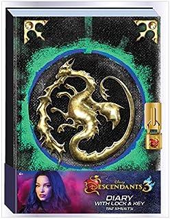 Innovative Designs Disney Mal's Diary Descendants 3 日记本笔记本,带秘密锁和钥匙