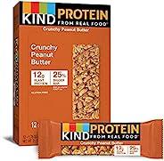 KIND 蛋白质棒,脆脆花生酱,无麸质,12克蛋白质,1.76盎司/50克,12支