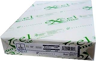 Excel One Carbonless 2 部分反向纸(亮白色/淡黄色),21.59 厘米 x 27.94 厘米(16557) - 一(1)份(250 套)