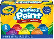 Crayola 繪兒樂 可水洗兒童顏料,6件,在家使用,繪畫用品,禮物