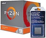 特别套装 - AMD 100-10000023BOX Ryzen 9 3900X 12核,24 线程解锁桌面处理器,带 Wraith Prism LED 散热器 + 创新冷却石墨散热垫 (30 X 30mm)
