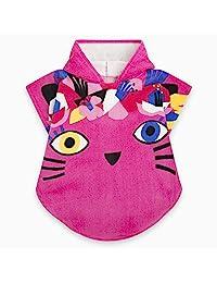 PINK KITTEN PONCHO FOR GIRL CAT