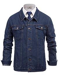 Paul JONES 男式时尚牛仔夹克外套翻领纽扣门襟棉