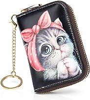 APHISON RFID 信用卡包女士钱包皮革拉链卡盒适合女装/礼品盒