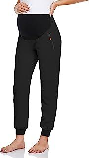 Glampunch 孕妇裤速干运动慢跑裤弹力休闲孕妇锻炼运动裤