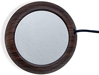 杯垫 保温 USB 茶杯 木纹 办公室用 温热 饮用 咖啡杯 暖马桶 附带日语说明书D314-C-BRN