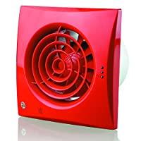 Blauberg UK 150 Quiet T 150 mm Extractor 風扇定時器 - 亮白色 紅色 150 mm 150 Quiet T Red