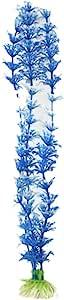 Uxcell 水族箱水下草装饰 白色/蓝色 31cm
