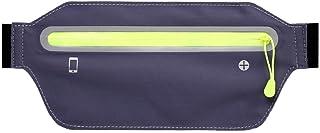Dinoka) 跑步 化妆包 腰包 跑步带 超轻 超薄 防水 防汗 4个独立口袋 6.5英寸都可使用 夜间反光材料 慢跑 徒步 骑行 登山 旅行 灰色