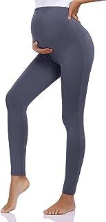 Coolmee 孕妇打底裤孕妇过凸裤健身房瑜伽干燥贴身运动服裤子