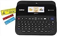 Brother 兄弟 PT-D600VP 标签机,USB 2.0,P-Touch 标签打印机,台式机,QWERTY 键盘,彩色屏幕,高达 24 毫米标签,包括手提箱/交流适配器/USB 电缆/24 毫米黑色白色磁带盒