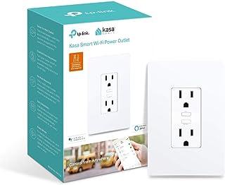 Kasa Smart Plug KP200,壁挂式智能家居Wi-Fi插座 可与Alexa,Google Home和IFTTT配合使用,无需集线器,远程控制,ETL认证
