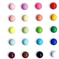 冰箱磁贴 球面多色冰箱办公室磁贴 适用于日历白板地图树脂趣味装饰装饰 20 件装