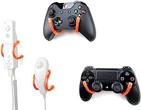 壁夹 - Xbox One,PS4,任天堂开关和复古游戏控制器整理器 - 4 件装,橙色