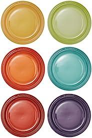 Le Creuset 酷彩 圓形餐盤 耐熱陶器 LC18 厘米 6 個裝 彩虹系列 910483-18-438