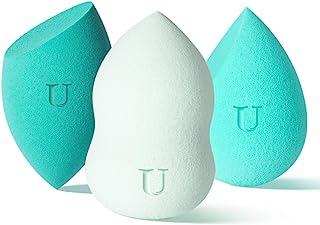 Beauty Blender 海绵 3 件套,带蛋架的化妆海绵搅拌机,适用于粉霜或液体,美妆海绵迷你不含乳胶,干湿两用海绵搅拌机