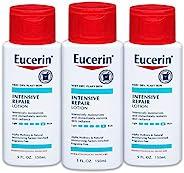 Eucerin 密集修复乳液-适用于非常干燥,呈片状的皮肤-5液体盎司(150毫升)/瓶,3瓶