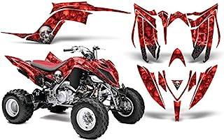 AMR Racing ATV 图形套件贴纸贴花与雅马哈Raptor 700R 2013-2018 - 骨头收集器红色