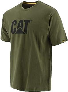 Caterpillar 男式经典猫标志高级环纺精梳棉 T 恤