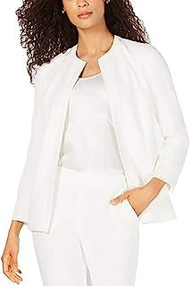 Kasper 女式织纹钩针花边前外套